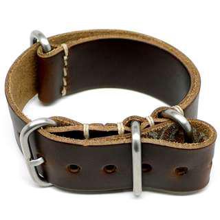 Da Luca Military Watch Strap - Brown Chromexcel (Matte Buckle)