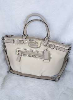 Auth COACH Madison Embossed Exotic Spectator Sophia michael kors kate spade
