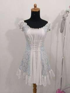 Sabrina off shoulder White Dress