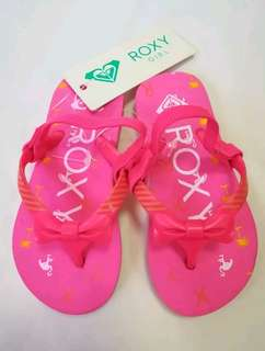 Roxy Pink Slippers for Baby Girls