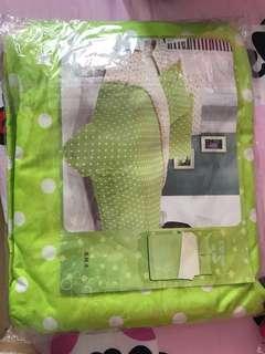 蘋果米波點床笠枕袋被袋套裝$150