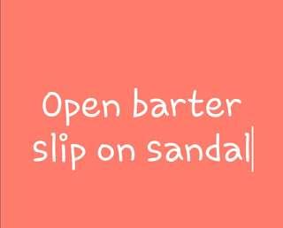 Wedges slip on sandal