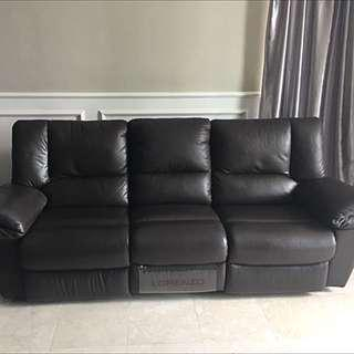 LORENZO Leather Sofa With Recliner