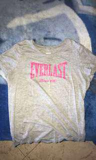 Women's Everlast grey and pink tshirt