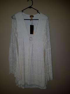 H&m cream lace dress BNWT