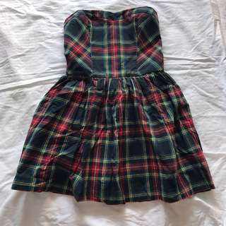 Abercrombie & Fitch Plaid Tube Dress