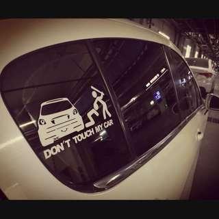 全新現貨 汽車 私家車 車貼 貼紙 汽車貼紙 Don't touch my car