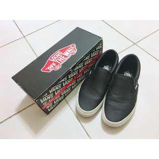 🚚 vans classic slip-on 黑色洞洞皮革懶人鞋