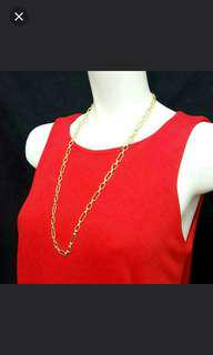 Gold Plated Necklace And Belt Chain . Brand New. 2 IN 1