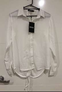 Soft White Shirt with back detail