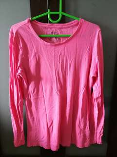 Faded Glory Long-Sleeved Pink Top