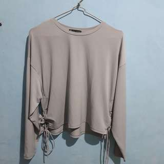 ZARA - Blouse Crop Grey