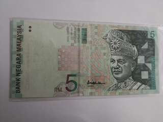 Not for sale~RM 50 series 10th 1999 Abul Hassan (centre signature)