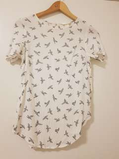 H&M Swallow Bird Blouse Top