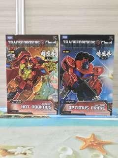 Transformers Takara Cloud TFC-A01 Optimus Prime and TFC-A03 Hot Rodimus