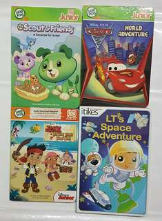 3 Leap Frog Tag Junior and 1 iTikes books