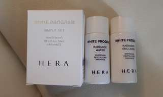 HERA simple set whitening revitalizing water and emulsion