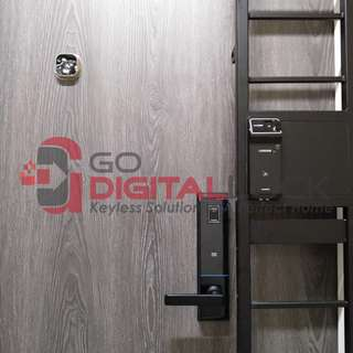 Fingerprint Digital Lock for Main Door and Metal Gate with Emergency Keys access at $1280 (Eng Version 2 Years Local Warranty)