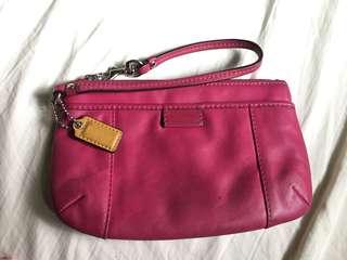 Authentic Pink Coach Wristlet