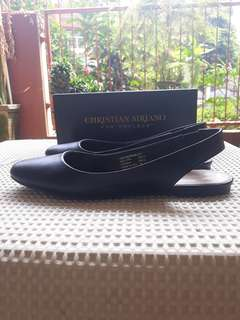 Christian Siriano for Payless Black Flat Slip On Shoes