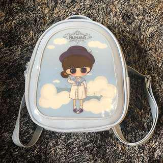 Mumuso Baby Blue Backpack Bag