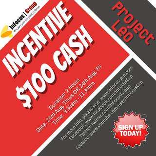 Looking for focus group participants - Incentive $100 cash