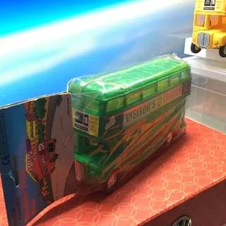 90年代塑膠雙層巴士(綠色)全新