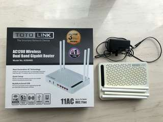 Totolink A2004NS AC1200 Wireless Router 路由器