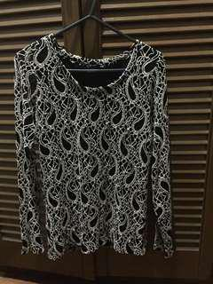 long sleeves formal/casual lace top
