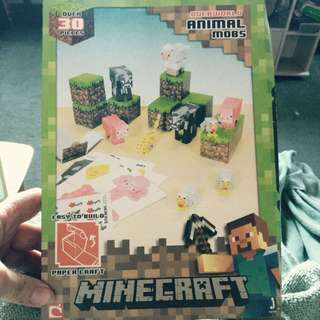 MINECRAFT Papercraft Animal Mobs 30 piece Easy to build Pack