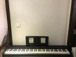 Yamaha p45 digital piano with stand and bench