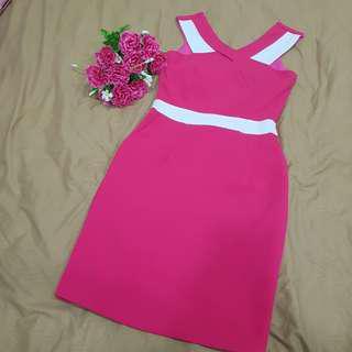 Pink Dress body hugging