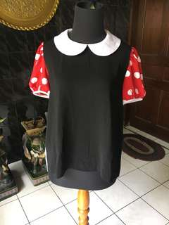 Blouse Minnie Mouse Inspired