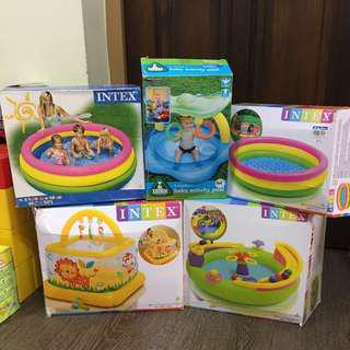 INTEX & ELC Inflatable Activity Ball Pit Pool Gym