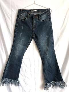 Fringe jeans boho