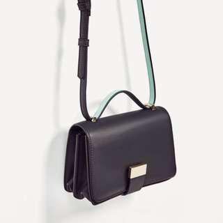 Zara Two Tone Crossbody Bag