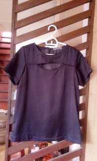 Maldita peephole sheer blouse