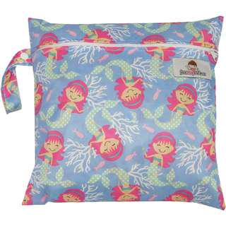 Multipurpose Single Zip with snap button Wetbag ~ Mermaid