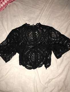 Peppermayo lace top