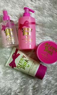 Berry pink bath and body gift set