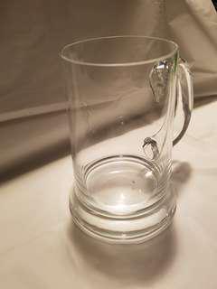 3 Glass beer mugs