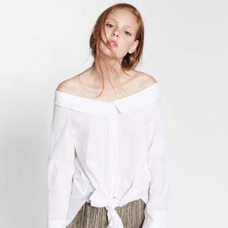 Zara inspired Korean White Off-Shoulder Top