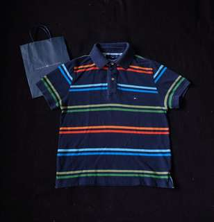 Authentic Tommy Hilfiger Andy Striped Polo Shirt
