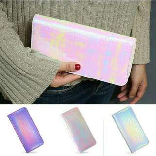 Holographic laser wallet purse #fashion100