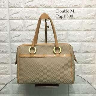 Beige Double M handbag