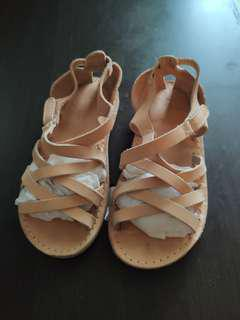 Zara baby leather sandals涼鞋, Size 23