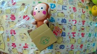 Monkichi 全新正版 Sanrio 2004年 馬騮仔 紙箱公仔