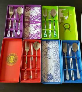 ❤4 sets Cutlery Set spoon/fork/chopstick