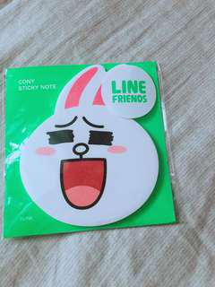 Line friends cony 兔兔便條紙 大頭造型