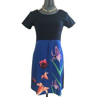 Freeway Dark Blue/Floral Corporate Dress